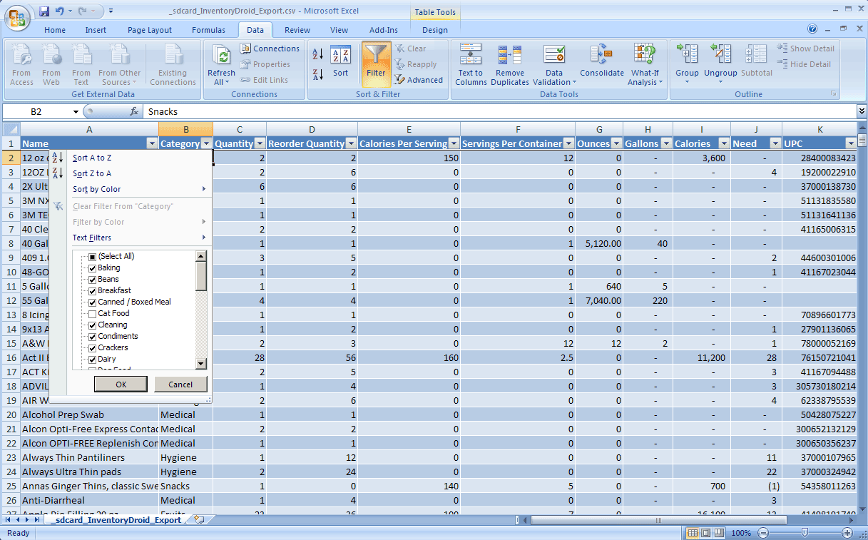 software inventory template